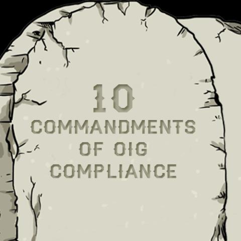 10 commandments of compliance