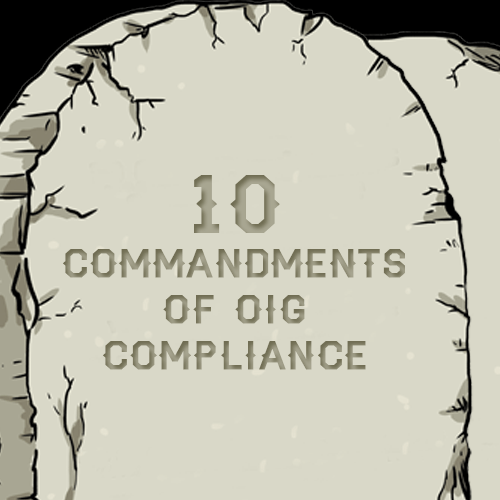 10 commandments of compliance