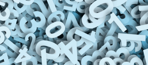 jumble of numbers